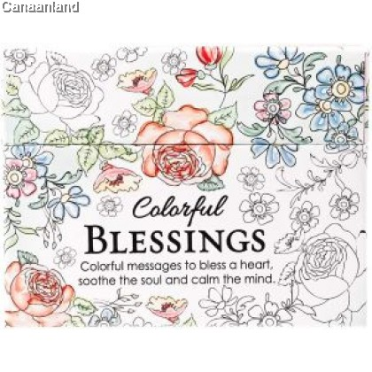 Boxed Coloring Cards - Colorful Blessing
