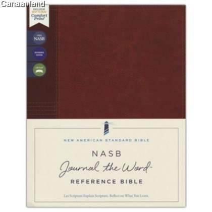 NASB - Journal the Word Reference Bible, Leathersoft over Board, Brown