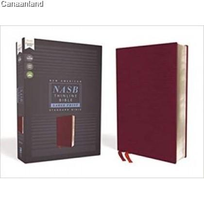 NASB - Thinline Bible, Large Print, Red Letter, Bonded Leather, Burgundy