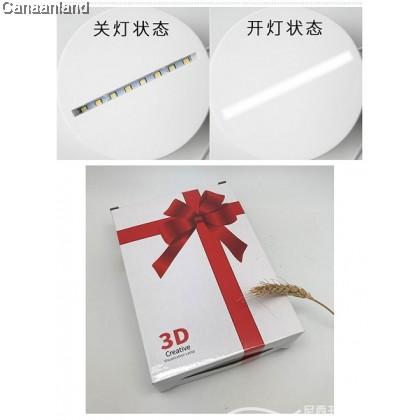 NS - Luminous Acrylic USB 3D Night Light/Bedside Lamp 夜光亚克力USB小夜灯3D卧室床头灯 (23*9.5cm)