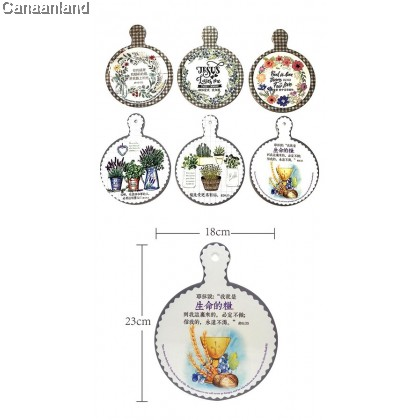 NS - Ceramic Pot Trivet  陶瓷锅垫挂饰. 碗垫桌垫餐垫 (49010191-49010196)