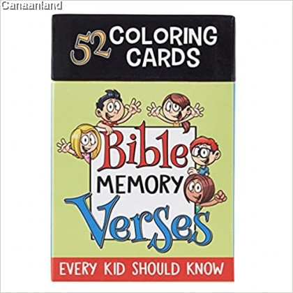 Boxed Coloring Cards - 52 Bible Memory Verses Every Kid Should Know