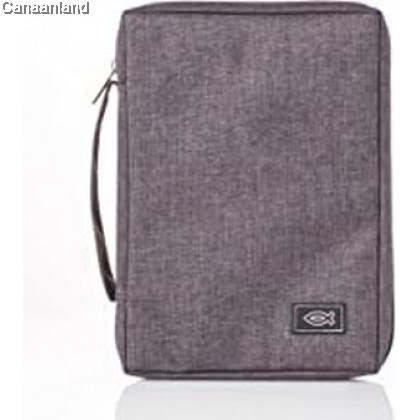 Cover - Poly-Canvas, Grey with Fish, S