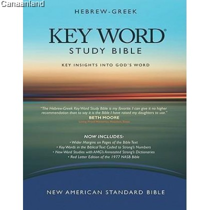 NASB - Key Word Study Bible, Hebrew-Greek, Hardcover